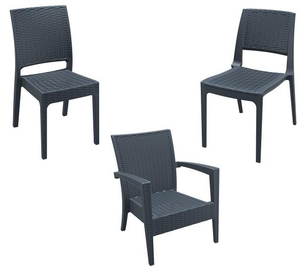 Krzesła technorattanowe